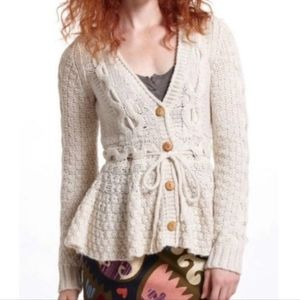 NWOT Anthropologie Sparrow Cream Knit Sweater